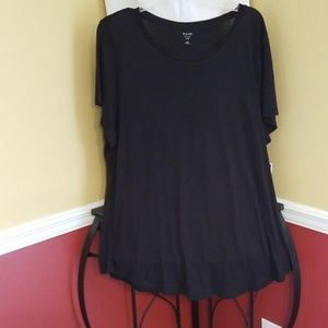 Kari blue black tee NWT